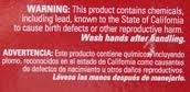 Warning found on artificial Christmas tree boxes.